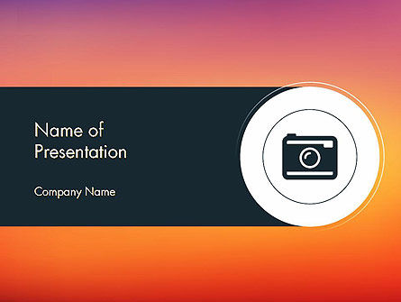 Photo Camera Icon PowerPoint Template, 14347, Careers/Industry — PoweredTemplate.com