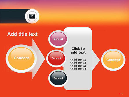 Photo Camera Icon PowerPoint Template Slide 17