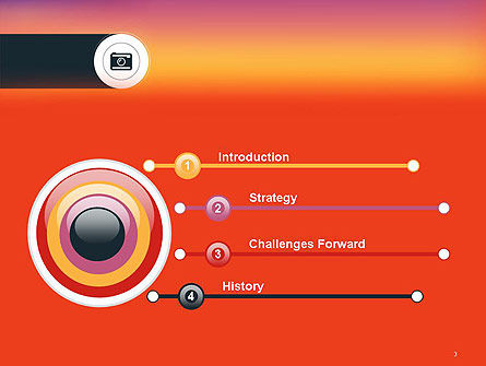 Photo Camera Icon PowerPoint Template Slide 3