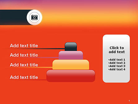 Photo Camera Icon PowerPoint Template Slide 8