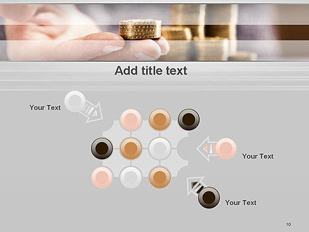 Man Hand in Holding Golden Coins PowerPoint Template Slide 10