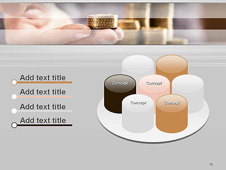 Man Hand in Holding Golden Coins PowerPoint Template Slide 12