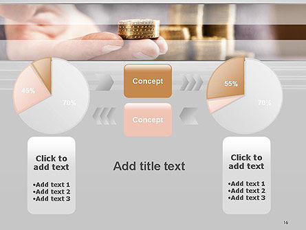 Man Hand in Holding Golden Coins PowerPoint Template Slide 16