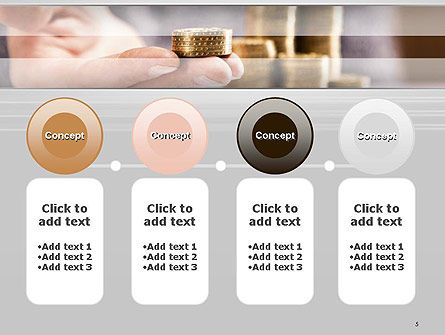 Man Hand in Holding Golden Coins PowerPoint Template Slide 5