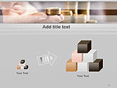 Man Hand in Holding Golden Coins PowerPoint Template#13