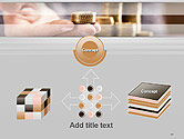 Man Hand in Holding Golden Coins PowerPoint Template#19