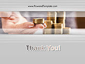 Man Hand in Holding Golden Coins PowerPoint Template#20