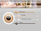 Man Hand in Holding Golden Coins PowerPoint Template#3
