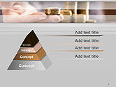 Man Hand in Holding Golden Coins PowerPoint Template#4