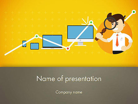 Reporting Analyst PowerPoint Template, 14350, Financial/Accounting — PoweredTemplate.com