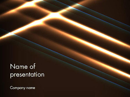 Elegant Beam of Glowing Energy Lights PowerPoint Template, 14351, Abstract/Textures — PoweredTemplate.com