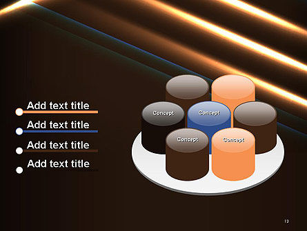 Elegant Beam of Glowing Energy Lights PowerPoint Template Slide 12