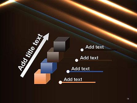 Elegant Beam of Glowing Energy Lights PowerPoint Template Slide 14
