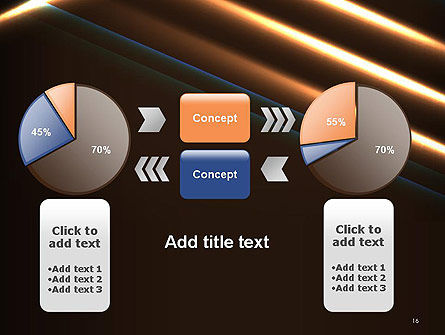 Elegant Beam of Glowing Energy Lights PowerPoint Template Slide 16