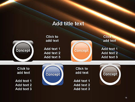Elegant Beam of Glowing Energy Lights PowerPoint Template Slide 18