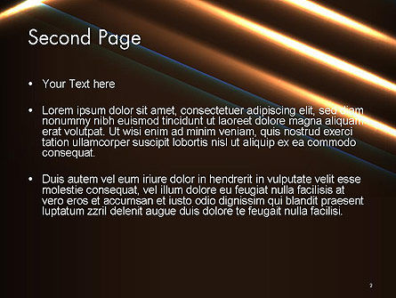 Elegant Beam of Glowing Energy Lights PowerPoint Template Slide 2
