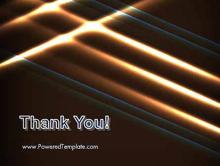 Elegant Beam of Glowing Energy Lights PowerPoint Template Slide 20