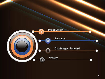 Elegant Beam of Glowing Energy Lights PowerPoint Template, Slide 3, 14351, Abstract/Textures — PoweredTemplate.com
