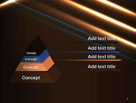 Elegant Beam of Glowing Energy Lights PowerPoint Template, Slide 4, 14351, Abstract/Textures — PoweredTemplate.com