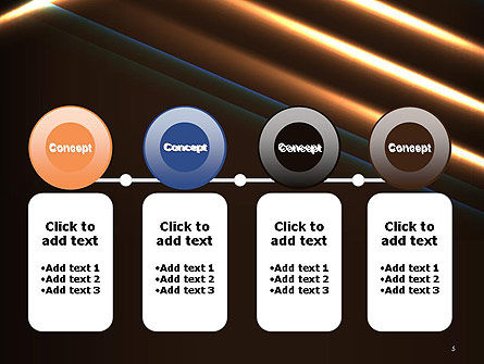 Elegant Beam of Glowing Energy Lights PowerPoint Template Slide 5