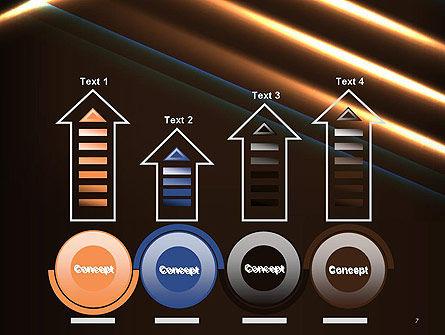 Elegant Beam of Glowing Energy Lights PowerPoint Template Slide 7