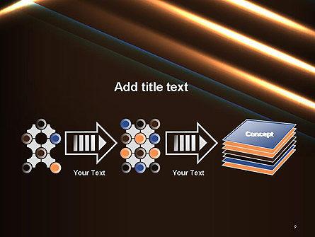 Elegant Beam of Glowing Energy Lights PowerPoint Template Slide 9