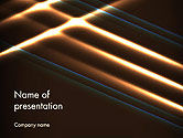 Abstract/Textures: Elegant Beam of Glowing Energy Lights PowerPoint Template #14351