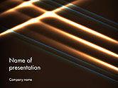 Abstract/Textures: Plantilla de PowerPoint - elegante haz de luces de energía brillante #14351