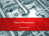 Financial/Accounting: Money Puzzle PowerPoint Template #14354