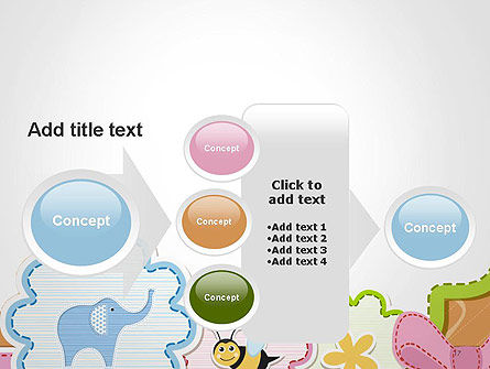 Cute Baby Shower Invitation PowerPoint Template Slide 17