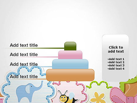 Cute Baby Shower Invitation PowerPoint Template Slide 8