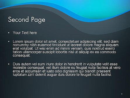 Abstract Wavelet Background PowerPoint Template Slide 2