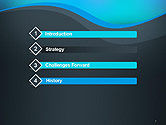 Abstract Wavelet Background PowerPoint Template#3
