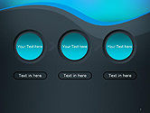 Abstract Wavelet Background PowerPoint Template#5