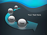 Abstract Wavelet Background PowerPoint Template#6