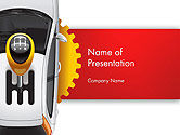 Cars and Transportation: Car and Gearstick PowerPoint Template #14357