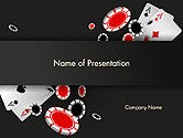 Art & Entertainment: Poker Chips PowerPoint Template #14358