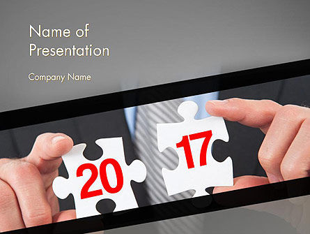 Business Concepts: Hands and Puzzle 2017 PowerPoint Template #14359