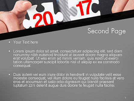 Hands and Puzzle 2017 PowerPoint Template Slide 2