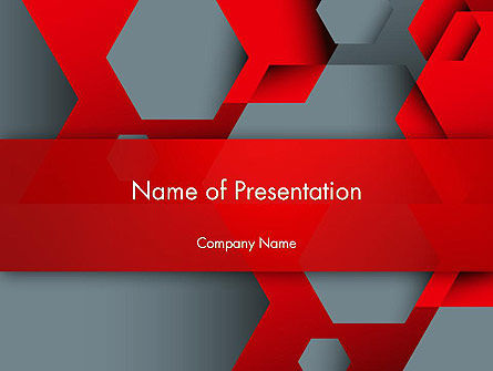 Hexagonal Background with Overlapping Polygons PowerPoint Templates, 14360, Abstract/Textures — PoweredTemplate.com