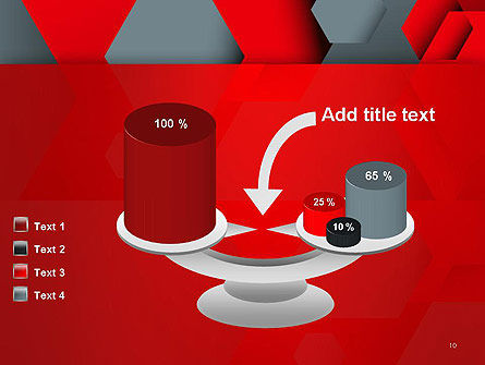 Hexagonal Background with Overlapping Polygons PowerPoint Templates Slide 10