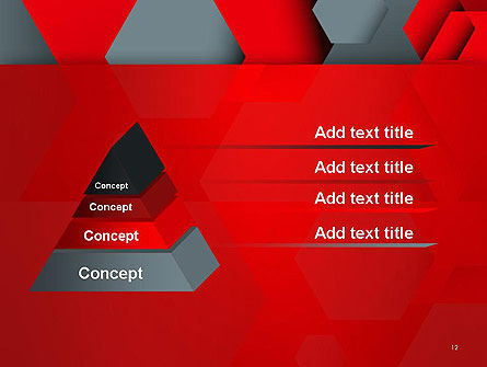 Hexagonal Background with Overlapping Polygons PowerPoint Templates Slide 12