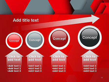 Hexagonal Background with Overlapping Polygons PowerPoint Templates Slide 13