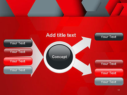 Hexagonal Background with Overlapping Polygons PowerPoint Templates Slide 14