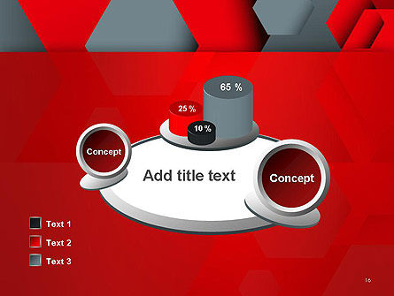 Hexagonal Background with Overlapping Polygons PowerPoint Templates Slide 16