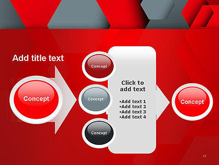 Hexagonal Background with Overlapping Polygons PowerPoint Templates Slide 17