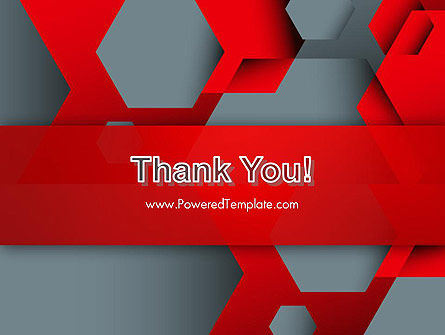Hexagonal Background with Overlapping Polygons PowerPoint Templates Slide 20
