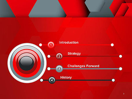 Hexagonal Background with Overlapping Polygons PowerPoint Templates Slide 3