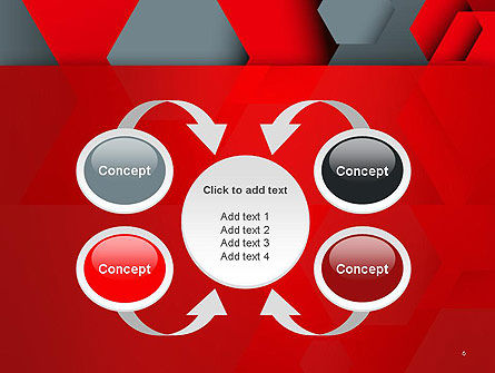 Hexagonal Background with Overlapping Polygons PowerPoint Templates Slide 6