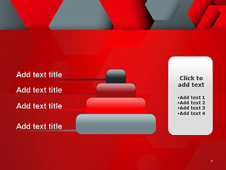 Hexagonal Background with Overlapping Polygons PowerPoint Templates Slide 8